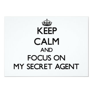 Keep Calm and focus on My Secret Agent Announcement