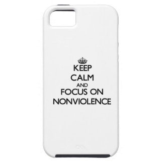 Keep Calm and focus on Nonviolence iPhone 5 Case