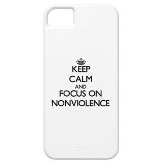Keep Calm and focus on Nonviolence iPhone 5 Cover