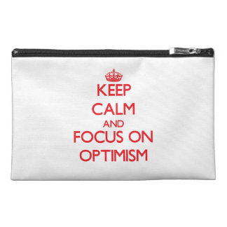 kEEP cALM AND FOCUS ON oPTIMISM Travel Accessories Bags