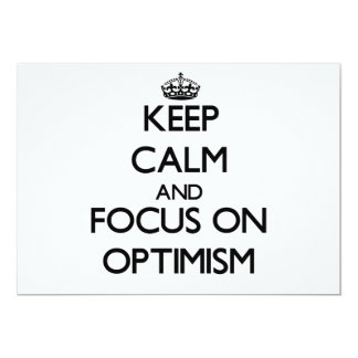 Keep Calm and focus on Optimism Announcement