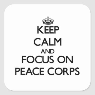 Keep Calm and focus on Peace Corps Stickers