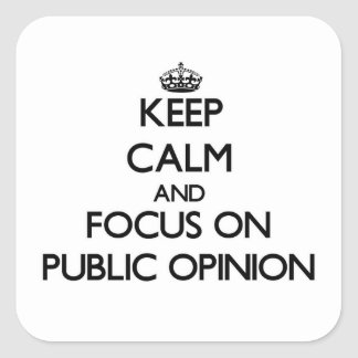 Keep Calm and focus on Public Opinion Square Sticker