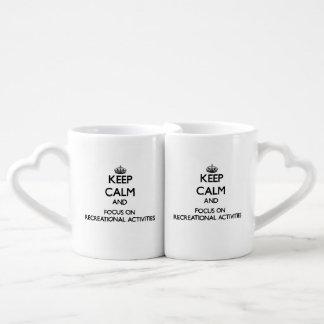 Keep Calm and focus on Recreational Activities Couples' Coffee Mug Set