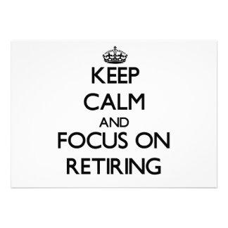 Keep Calm and focus on Retiring Custom Invitation