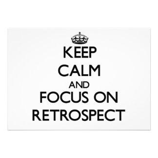 Keep Calm and focus on Retrospect Custom Announcement