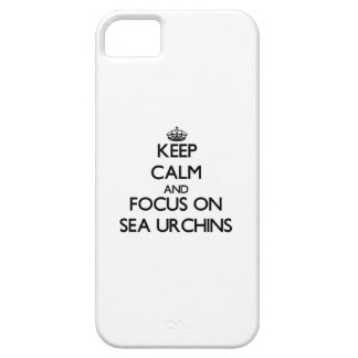 Keep calm and focus on Sea Urchins iPhone 5 Cases