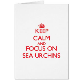 Keep Calm and focus on Sea Urchins Greeting Card