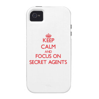 Keep Calm and focus on Secret Agents iPhone 4/4S Covers