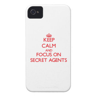 Keep Calm and focus on Secret Agents iPhone 4 Cover