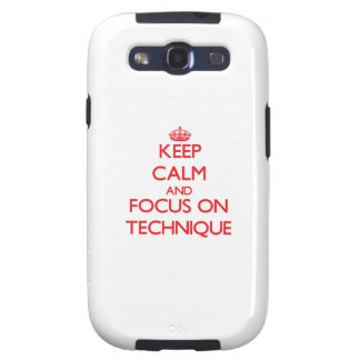 Keep Calm and focus on Technique Galaxy SIII Case