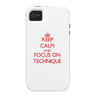 Keep Calm and focus on Technique Case-Mate iPhone 4 Case