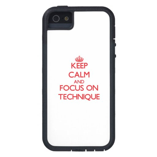 Keep Calm and focus on Technique iPhone 5 Covers