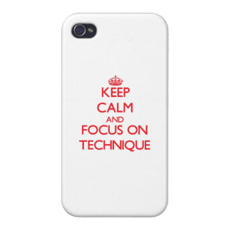Keep Calm and focus on Technique Case For iPhone 4