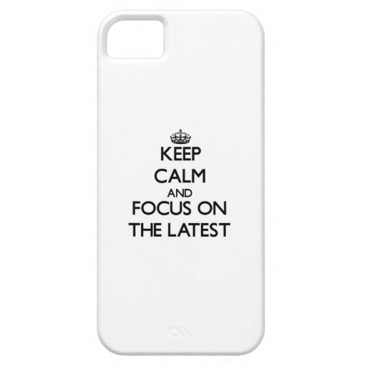 Keep Calm and focus on The Latest iPhone 5/5S Covers