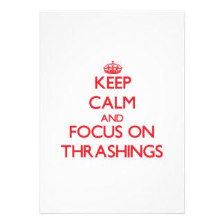 Keep Calm and focus on Thrashings Custom Invitation