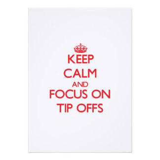 Keep Calm and focus on Tip-Offs Custom Invite