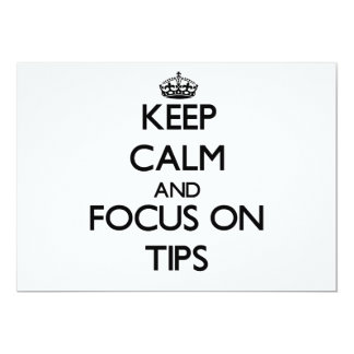 Keep Calm and focus on Tips Custom Announcement