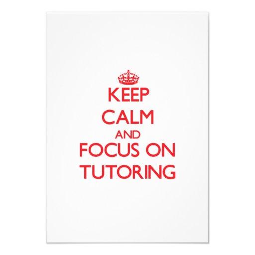 Keep Calm and focus on Tutoring Custom Invite