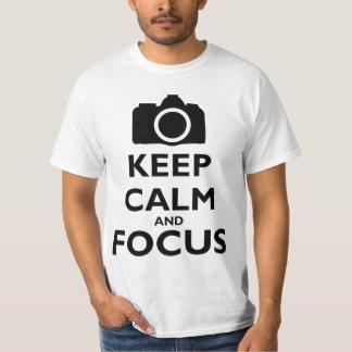 Keep Calm and Focus - Photography Tee Shirt