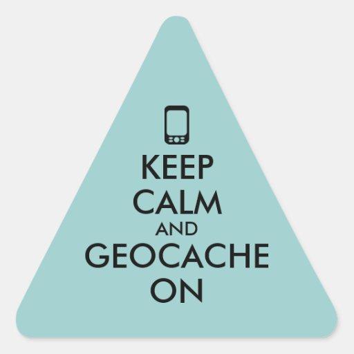 Keep Calm and Geocache On GPS Geocaching Custom Sticker