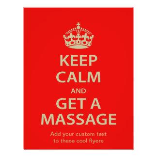Keep Calm and Get a Massage Flyer