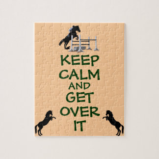 Keep Calm and Get Over It Horse Jigsaw Puzzle