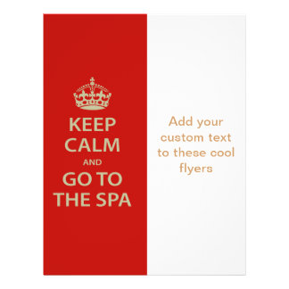Keep Calm and Go To the Spa 21.5 Cm X 28 Cm Flyer