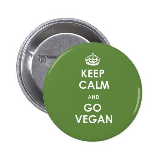 Keep calm and go vegan button