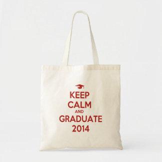Keep Calm and Graduate 2014 Tote Bag