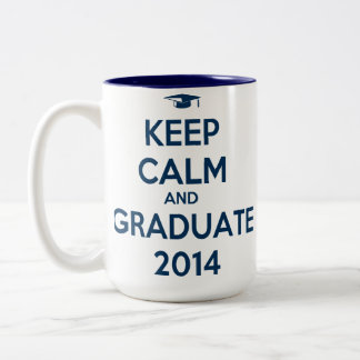 Keep Calm and Graduate 2014 Two-Tone Coffee Mug