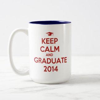 Keep Calm and Graduate 2014 Two-Tone Mug