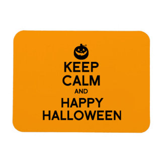 KEEP CALM AND HAPPY HALLOWEEN - png Rectangle Magnets
