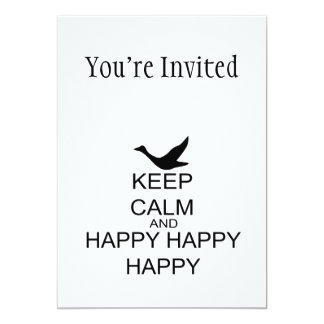 Keep Calm And Happy Happy Happy 13 Cm X 18 Cm Invitation Card