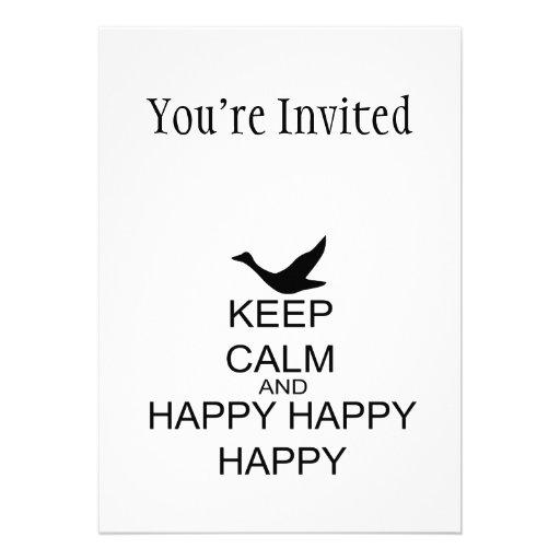 Keep Calm And Happy Happy Happy Custom Announcements