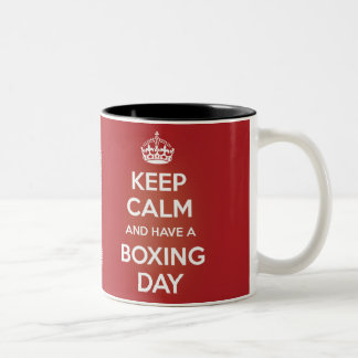 KEEP CALM AND HAVE A BOXING DAY Two-Tone MUG