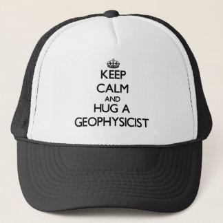 Keep Calm and Hug a Geophysicist Trucker Hat