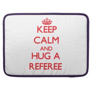 Keep Calm and Hug a Referee Sleeve For MacBooks