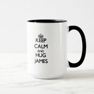 Keep Calm and Hug James Mug