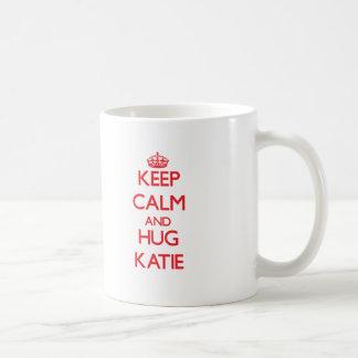 Keep Calm and Hug Katie Basic White Mug