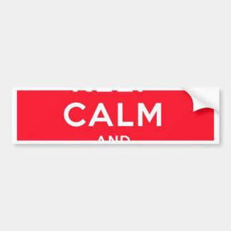 Keep Calm and Illuminati Bumper Sticker