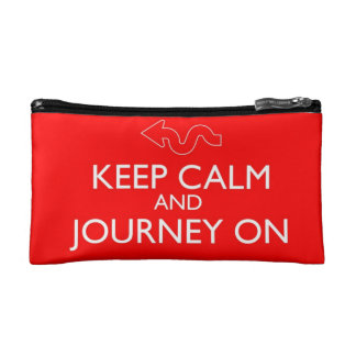 Keep Calm and Journey On Cosmetics Bag