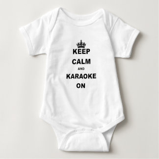KEEP CALM AND KARAOKE ON.png Baby Bodysuit