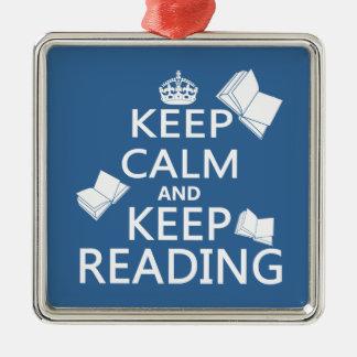 Keep Calm and Keep Reading Christmas Ornament