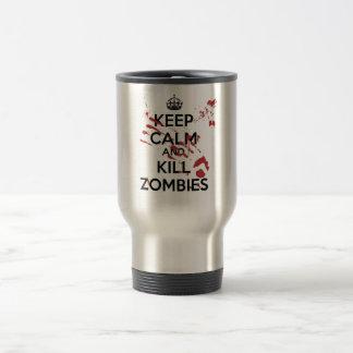 Keep Calm and Kill Zombies Caneca