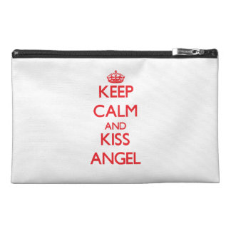 Keep Calm and kiss Angel Travel Accessories Bags