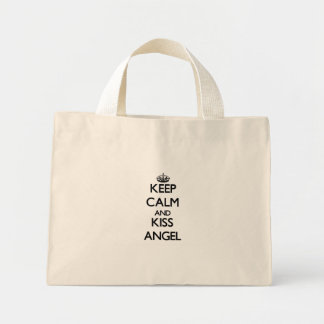 Keep Calm and kiss Angel Canvas Bags
