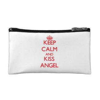Keep Calm and Kiss Angel Makeup Bag