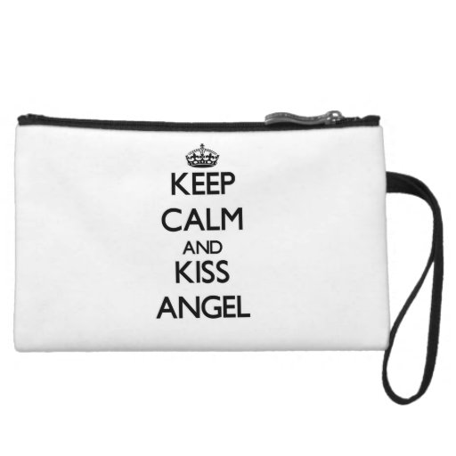 Keep Calm and Kiss Angel Wristlet Purse
