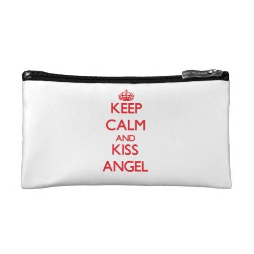 Keep Calm and Kiss Angel Cosmetics Bags